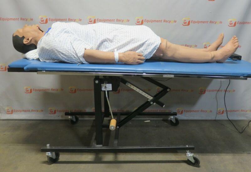 Meti ECS Full Body Training Manikin iStan Human Patient Simulator Stretcher
