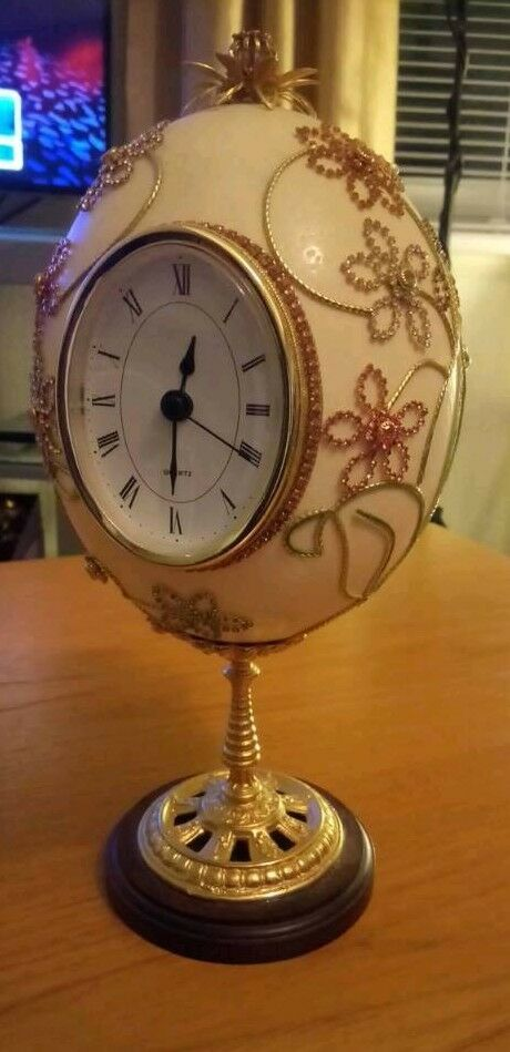 Faberge egg clock