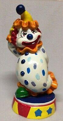 Vintage plastic Big Top Clown piggy Bank by Del Monte - Big Plastic Piggy Bank
