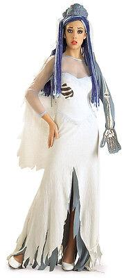 Tim Burtons CORPSE BRIDE Costume Wedding Dress Bridal Veil Adult Medium 10 12 (Corpse Bride Costume Adult)