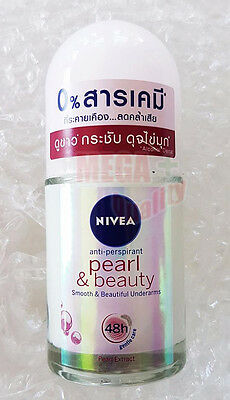 25ml NIVEA PEARL + BEAUTY Roll On Smooth Beautiful Underarms 48h Anti-Perspirant