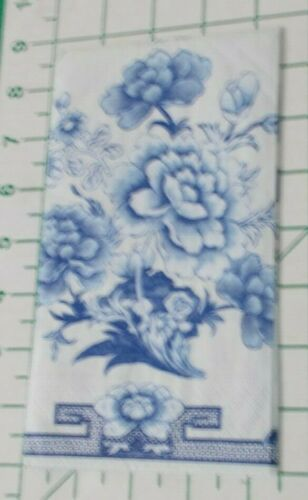 """Two Decorative Hostess Napkins for Decoupage """"Blue and White"""""""