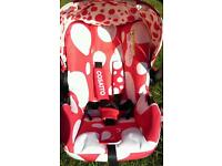 """Cosatto baby carseat in """"bubble"""" pattern unisex design suitable from birth"""