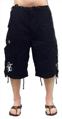 Rave Shorts Mens (Ghast Clothing Brand Unisex Shorts Rave Flare Bottom EDM Ultra Cargo)