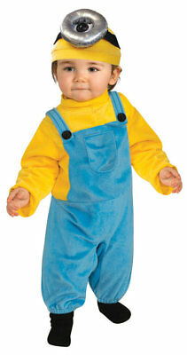 Rubie's Minions Infant/Toddler Minion Stuart Child Halloween Costume 3T-4T ](Minion Costume 4t)