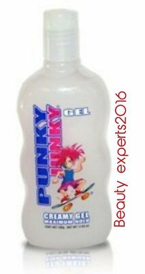 - PUNKY JUNKY  Creamy GEL MAX HOLD  WHITE JUMBO  UNISEX  STYLES WET LOOK  17.63 oz