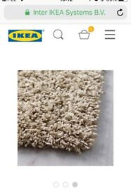 Ikea Hampen beige rug for sale carpet