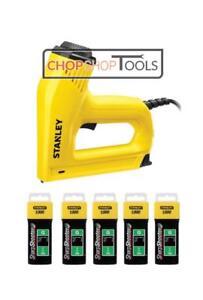 STANLEY Electric Staple Nail Gun Nailer 0-TRE550 & 5000 Assorted Staples