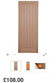 5 x 1981mm x 838mm oak veneer internal door