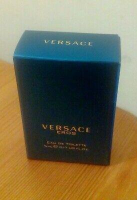 Versace Eros 5ml Edt Miniature New in box