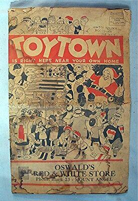 1930's Christmas Advertising -- Toy Town Catalog / Magazine *