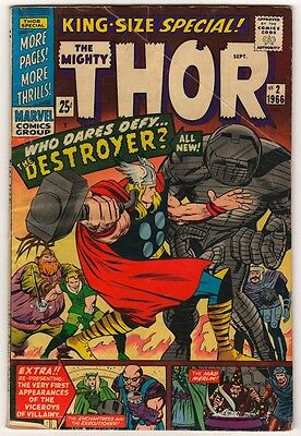 Marvel Comics VG- THOR #2 Journey into mystery  KIRBY DESTROYER