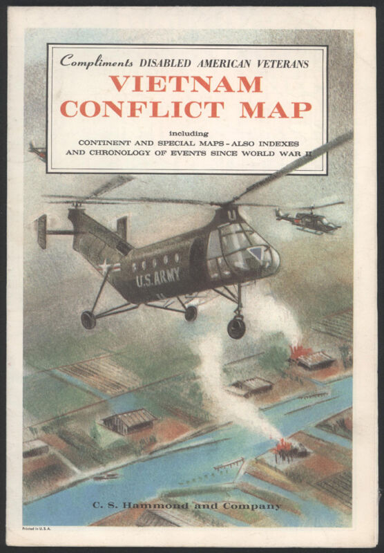 1965 Vietnam Conflict Map by C. S. Hammond and Company