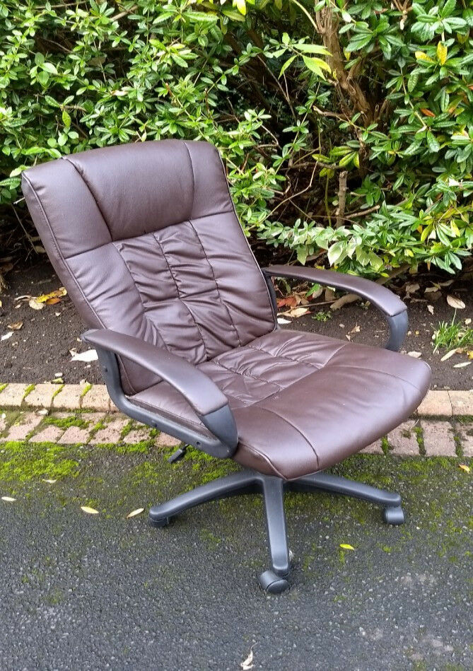 Brown PU Leather Executive Chair