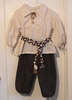 BOY'S RENAISSANCE PEASANT OUTFIT SCA MEDIEVAL LARP PIRATE COSPLAY  SZ 10-12
