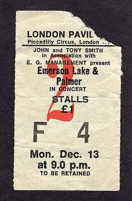 1971 Emerson Lake & Palmer concert ticket stub Tarkus  Piccadilly London UK