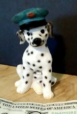 DALMATIAN FIRE DOG PUP FIGURINE STATUE 5 INCHES TALL WITH FIRE CHIEF? (Dalmatian Fire Dog)