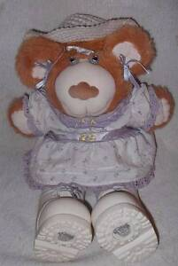 VINTAGE CABBAGE PATCH KIDS FURSKINS BEAR WITH ORIGINAL CLOTHES Thornlie Gosnells Area Preview