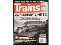188 BACK ISSUES OF TRAINS (USA) MAGAZINE FOR SALE