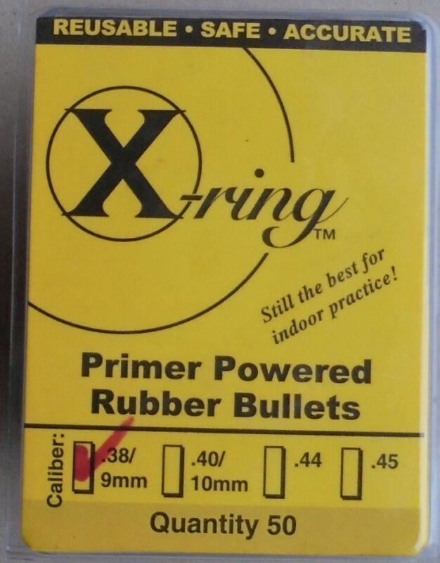 Rubber Bullets X-Ring Primer Powered Rubber Bullets .38 Caliber