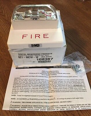 Dmp 921-mcw-w Digital Monitoring Products Remote Sync White Strobe Fire Alarm