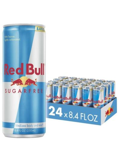 Red Bull Sugar Free Energy Drink 8.4 Fl Oz Cans 24-Pack, SHI