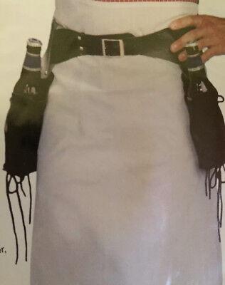 WILD WEST BARTENDER BLACK BOTTLE LIQUER HOLSTER BELT ONLY-COSTUME ACCESSORY-1 PC - Wild West Bartender Costume