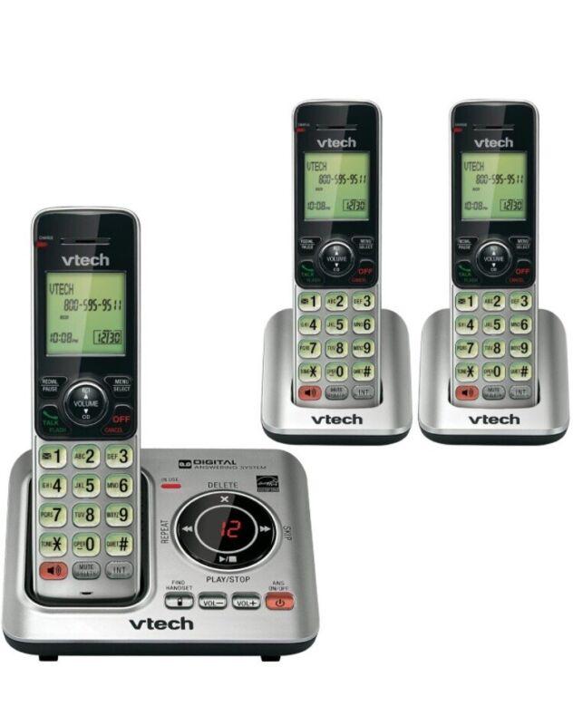 VTECH VTCS6629-3 DECT 6.0 Expandable Speakerphone w/ Caller ID 3-Handset System.