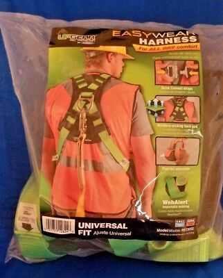 Upgear Safety Harness Body Fall Protection Snap-in Easy Wear Green Harness