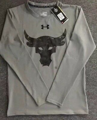 Under Armour Men's Hear-Gear Long Sleeve Compression Winter Running New Rock - Under Armour Winter Gear