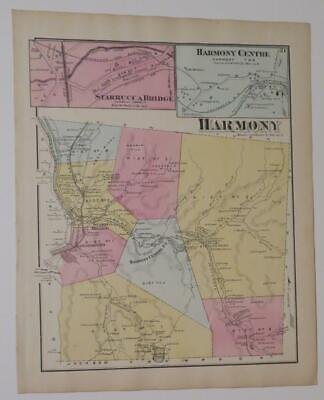 1797 PA MAP Susquehanna Roaring Spring Newfoundland Pennsylvania SURNAMES   HUGE