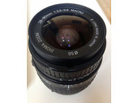 Sigma Zoom Wide Angle Lens