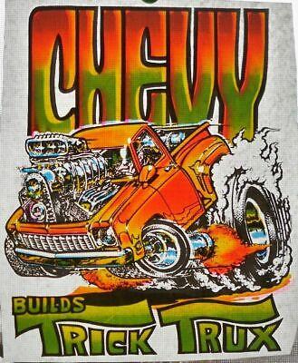 Vintage Chevy Trick Trux Truck Iron On Transfer T Shirt