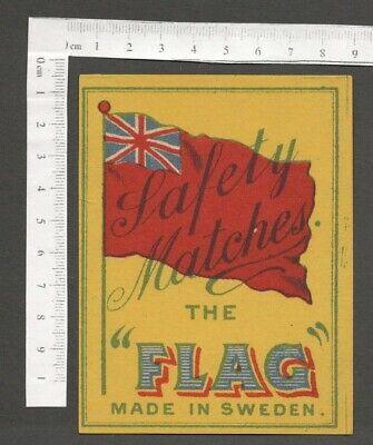 AOP THE  FLAG vintage large packet size matchbox label