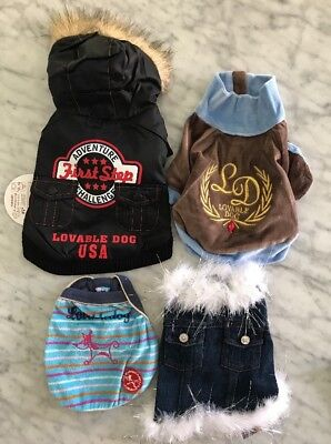 NEW LOT OF 4 DOG CLOTHES SIZE XS Chihuahua Yorkie Super Quality Wholesale LOT 10