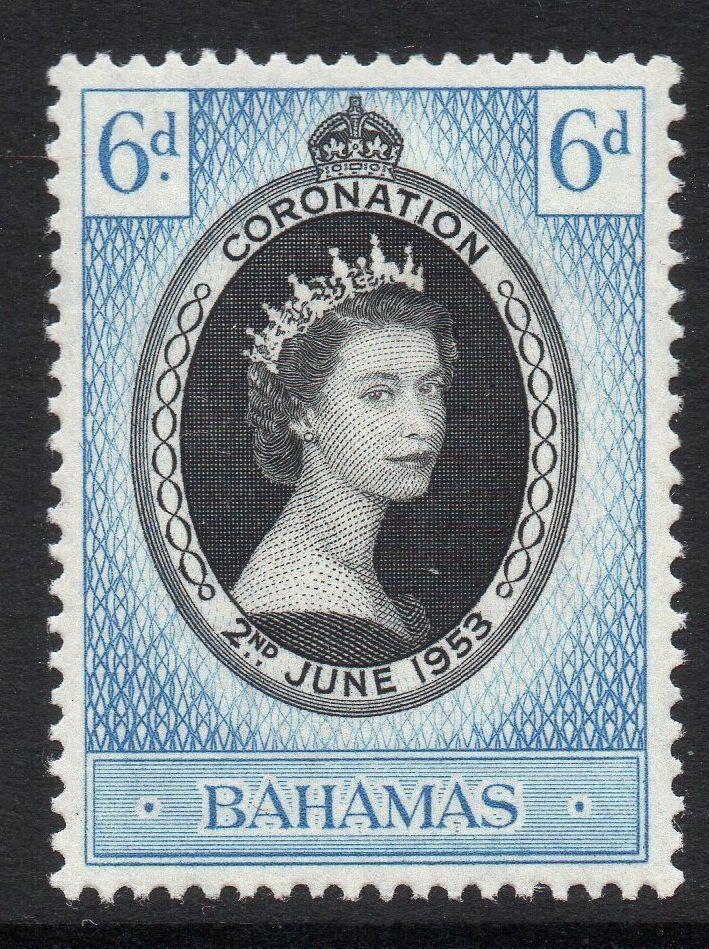 BAHAMAS SG200 1953 CORONATION MNH