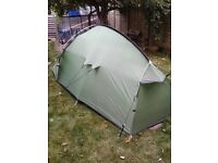Etesian 2 wild country tent by Terra Nova and porch extension