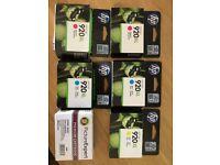 HP 920XL GENUINE INKJET CARTRIDGES 2 x CYAN 2 x MAGENTA 1 x YELLOW and 1 BLACK compatible