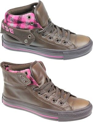 NEW CONVERSE ALL STAR 122602 PADDED COLLAR CHOCOLATE/CA LEATHER SHOE BOOTS