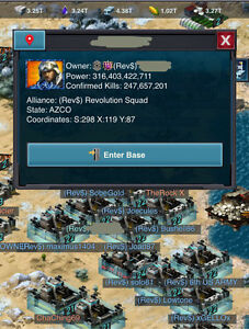 Mobile Strike  316.4 Billion power R4
