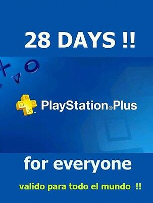 Playstation Ps Plus 28 Days      Ps4 Ps3 Psvita  Sent Fast  Read Description