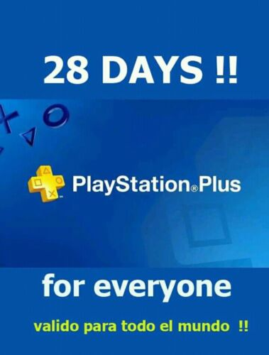 PLAYSTATION PS PLUS 28 DAYS - SENT RIGHT NOW - Ps4/Ps3/PsVita (read description)