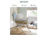 White John Lewis Moses Basket