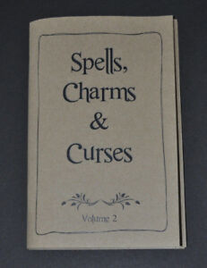 Spells, Charms & Curses SPELL BOOK * Harry Potter * Handcrafted Item