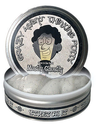 Glow In The Dark - Mostly Ghostly - Crazy Aaron's Thinking Putty (10cm Tin)