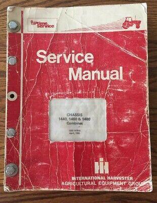 International Harvester 1440 1460 1480 Combine Chassis Service Manual Ih Origina