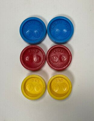 VINTAGE FISHER PRICE  REPLACEMENT CASH REGISTER COINS #926 Authentic 1974
