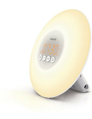 Philips Wake-Up Light Alarm Clock w/ Sunrise Simulation, White (HF3500/60)