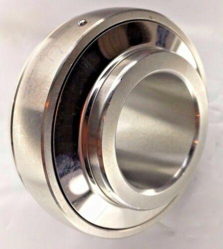 "Premium SUC207-22 | Stainless Steel Insert Bearing UC207-22 1-3/8"" Bore w/Screws"