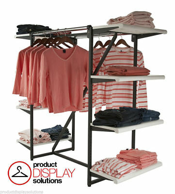 Double Hangrail Eight Shelves Combination Retail Display Rack